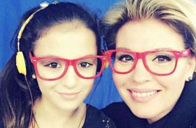 Liptai Claudia Panka lányával