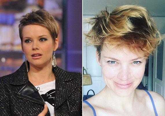 Osvárt Andrea smink nélkül és kócos hajjal - a színésznőt a képernyőről nem így ismerjük, de minden elismerésünk, hogy ezt a fotót is bevállalta.
