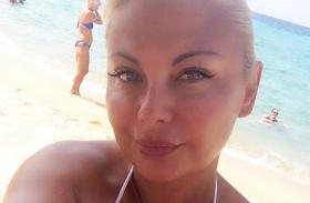 Rába Tímea bikiniben