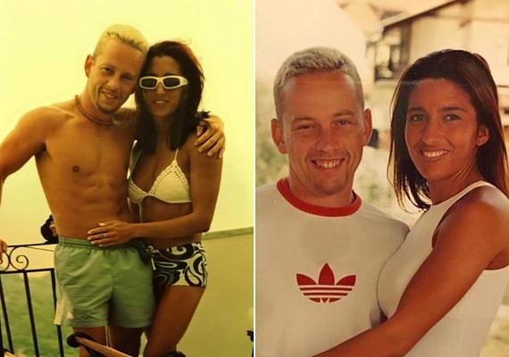 Rubint Réka kapcsolatuk elejéről, 2001-ből osztott meg fotókat Facebook-oldalán. Schobert Norbit ekkor még platinaszőke hajjal, őt magát pedig kezdő fitneszkirálynőként láthatjuk.