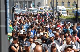 Bevándorlók a Rákóczi úton