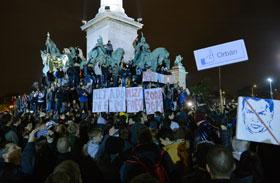 Internetadó elleni tüntetés