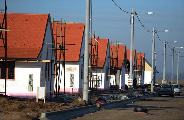 Az ócsai lakópark, fotó: MTI, Kovács Tamás