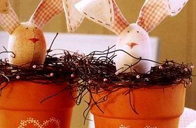 Húsvéti dekoráció: filléres húsvéti díszek