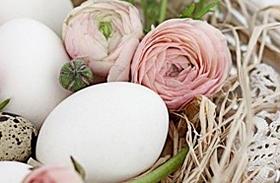 Húsvéti dekoráció fehérben