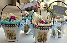 Húsvéti dekoráció: húsvéti kosár