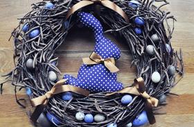 Húsvéti dekoráció: húsvéti koszorú