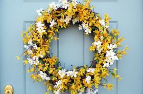 Húsvéti dekorációk: koszorúk az ajtóra