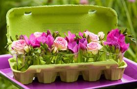Húsvéti dekoráció: virágból készült díszek