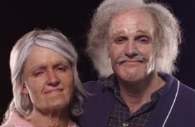 70 évet öregedő pár