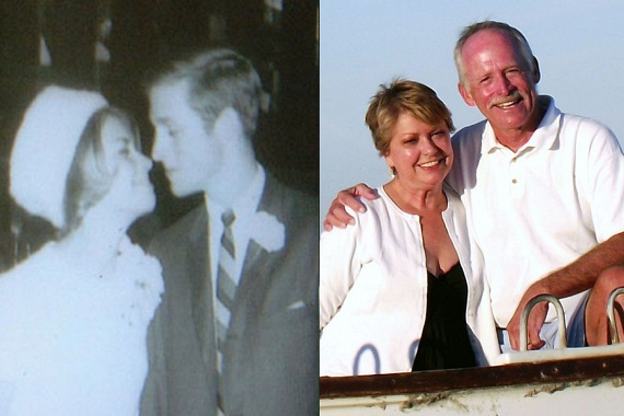 Dave és Barbara 47 éve gyönyörű fiatal párként, és napjainkban, sok-sok közös emlék birtokában még mindig együtt és boldogan.