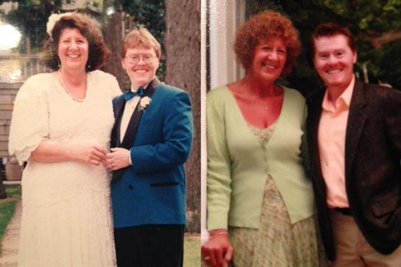21 évvel ezelőtti esküvői képükön ugyanez a felszabadult mosoly volt a láthatóan örökké vidám Chris és Dan arcán.