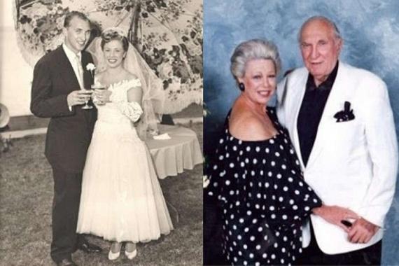 60 évvel azután, hogy közös történetük kezdetét vette, ez a pár ismét közös portrét készíttetett magáról. Balra esküvői fotójukat láthatod.