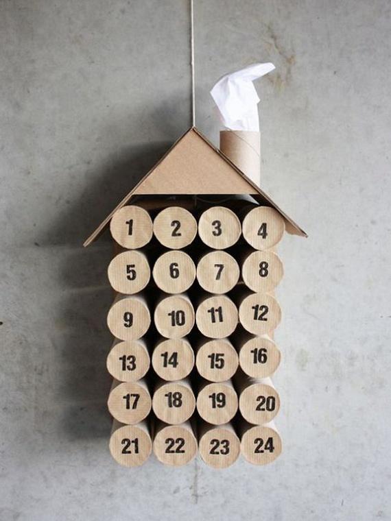 A lehetőségeknek szinte csak a fantázia szabhat határt. Ehhez az aranyos házikóhoz tényleg alig kell plusz anyagot beszerezned: egy kis papír és karton felhasználásával letisztult végeredményt kapsz. Ide kattintva egy szuper sablont is találsz a számokhoz.