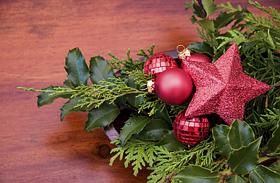 Karácsonyi dekorációk. örökzöld díszek