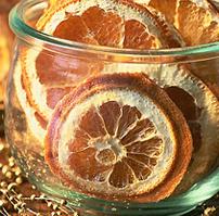 Szárított narancskarikák