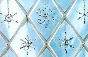 Karácsonyi dekorációk: drótpelyhek