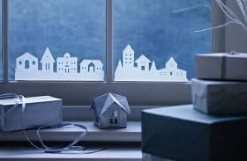 Karácsonyi ablakdíszek papírból
