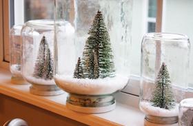 Karácsonyi dekoráció üveg