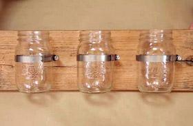 Befőttesüvegből váza