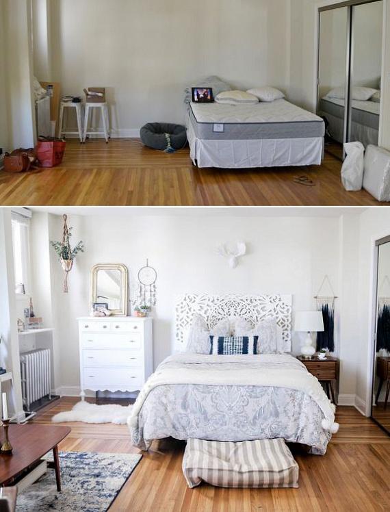 A szobán belül először az ágy legoptimálisabb helyét kell megtalálnod. Az a legjobb, ha mindkét oldalról megközelíthetővé tudod tenni, mert így nem csak kényelmesebb, de mutatósabb is lesz a szoba képe.                         Emellett pedig az ágyvég dekoratív kialakítása is egy olyan apróság, ami azonnal feldobja a szobát - így erre érdemes kicsit költeni, mert azonnal meghálálja magát.