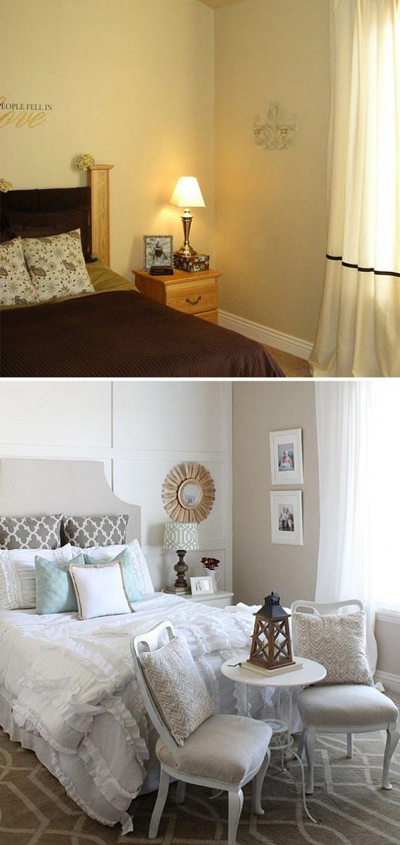 A nagy, üres falak lehangolóak lehetnek. Ennek orvoslására kevés, de jól megválasztott darabbal igyekezz hangulatosabbá varázsolni az ágyad körüli falakat. De jó megoldás egy fából készült, táblás falburkolat is, amely azonnal megtölti az üres falszakaszt.
