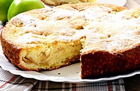 Almás bögrés süti recept