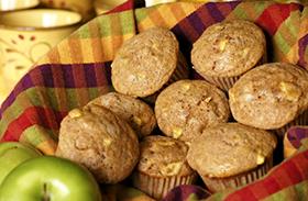 Almás, zabpelyhes muffin