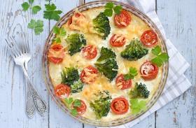 Brokkolis rakott tészta