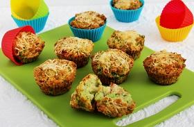 Brokkolis-sajtos muffin