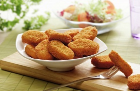 Csirke nuggets sütőben sütve