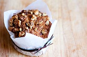 Diós muffin recept