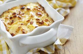 Dupla sajtos rakott krumpli recept