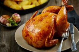 Fokhagymás sült csirke