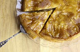 Fordított almás süti