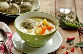 Gombócos krumplileves