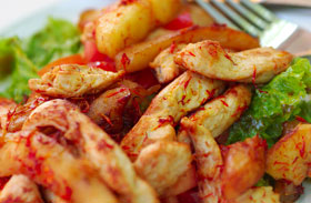 Gyors sült csirke pirított almával és hagymával - Gyors ebéd vasárnapra