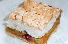 Habos almás-epres süti