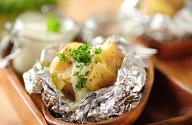 Héjában sült újkrumpli