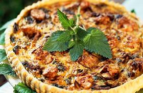 Isteni sós piték - Spenóttal, hússal, sajttal