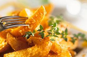 Cukkínis lapcsánka, krokett, parmezános sült krumpli