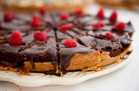 Karamellás, csokis pite