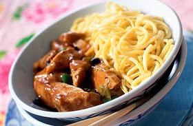 Kínai csípős csirke egyszerűen