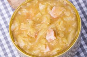 Krumplis kelkáposzta-főzelék