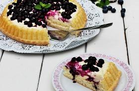 Mascarponés, áfonyás torta