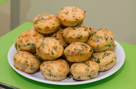 Medvehagymás muffin