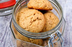 Réteges vajas keksz