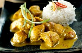 Tejszínes-currys csirke