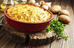 Tepsis sajtos krumpli