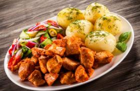 Zacskóban sült csirkecsíkok